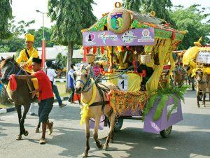 info budaya festival teluk palu Parade Gokar