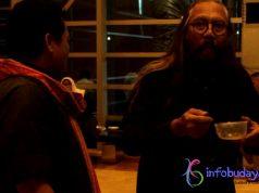 Info budaya Indonesia Prof. Sardono W. Kusumo di temani Jamal Gentayangan Menikmati makanan Khas Luwu (Kapurung)