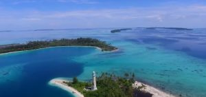 info budaya destinasi wisata pulau banyak dari Udara (Image Youtube)