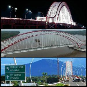 wisata alam Jembatan Pak Kasih Tayan (Imaga :Instagram/@aliahusnah)