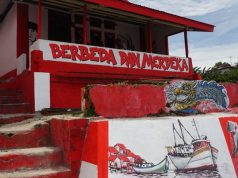 info budaya Kampung Merah Putih di Kota Tual maluku (Imnage : Kompas)